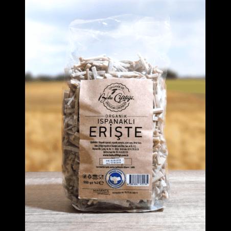 Bolu Çiftliği Organik Ispanaklı Erişte 500 Gr