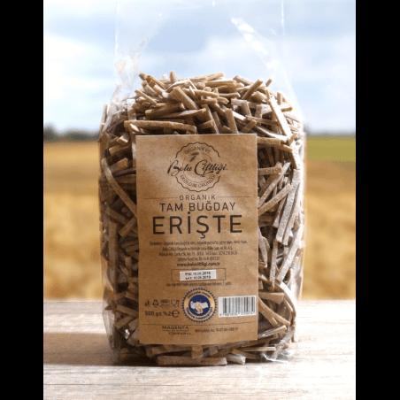 Bolu Çiftliği Organik Tam Buğday Erişte 500 Gr