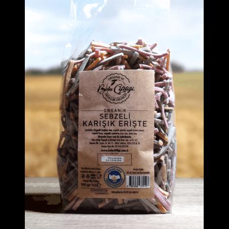 Bolu Çiftliği Organik Karışık Sebzeli Erişte 500 Gr