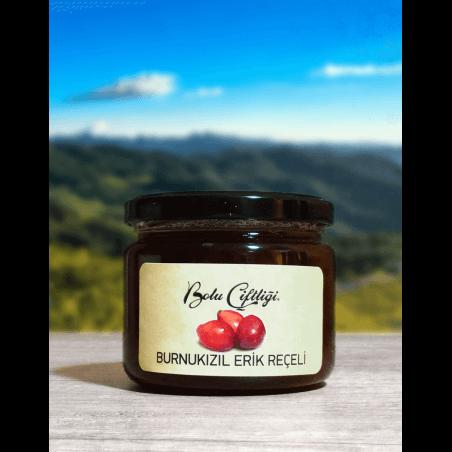 Bolu Çiftliği Ev Yapımı Doğal Burnukızıl Erik Reçeli