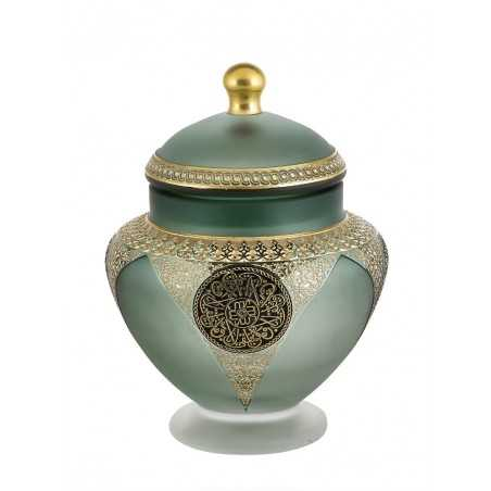 Paşabahçe Words of Art on Glass Collection Cevher Sugar Bowl